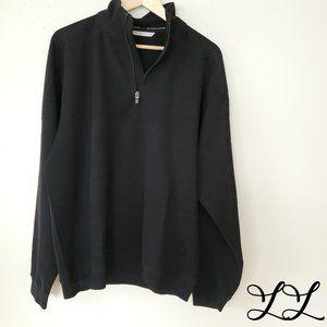 Cutter & Buck Sweatshirt Pullover Black Zip Cotton